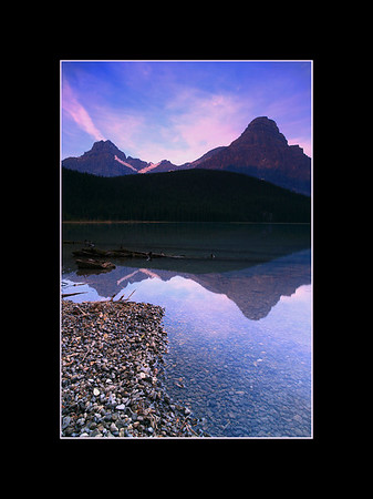 Sunrise Over Lower Waterfowl Lake, Banff National Park