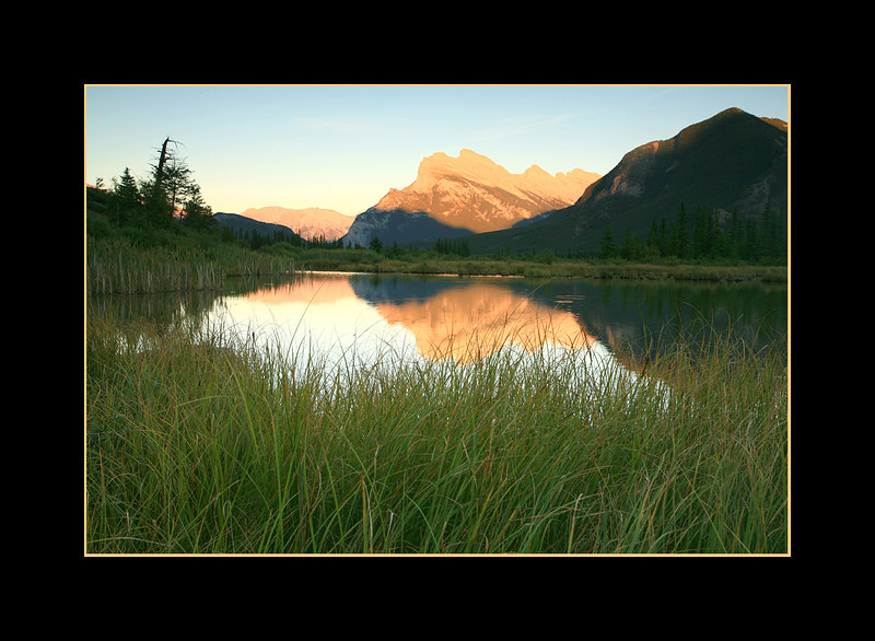 Mount Rundle from 3rd Vermillion Lake, Banff National Park