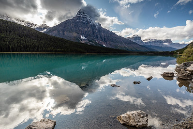 Reflection of Mt. Chephren on Waterfowl Lake