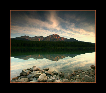 Sunrise over Patricia Lake, Jasper National Park