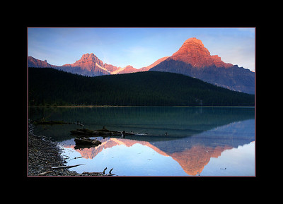 Alpenglow on Mount Chephren, Banff National Park