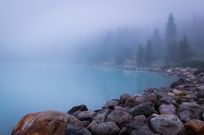 Morning Fog at Lake Louise