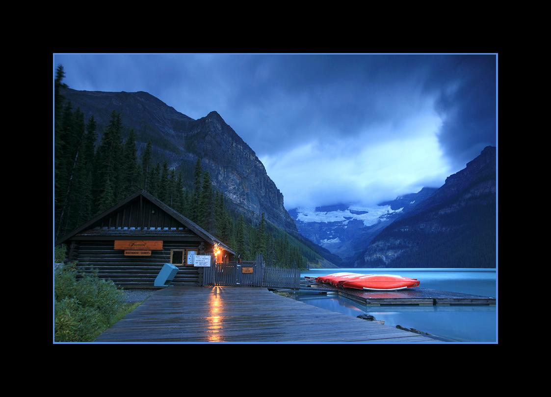 Boathouse on Lake Louise, Banff National Park