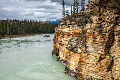 Cliffs Along the Athabasca River