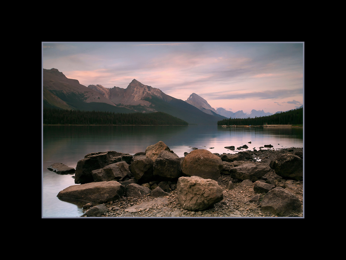 Maligne Lake in Twilight, Jasper National Park