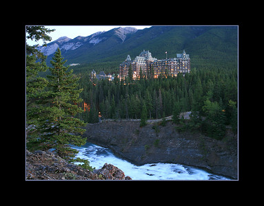 Fairmont Banff Springs Hotel from Surprise Point, Banff Townsite