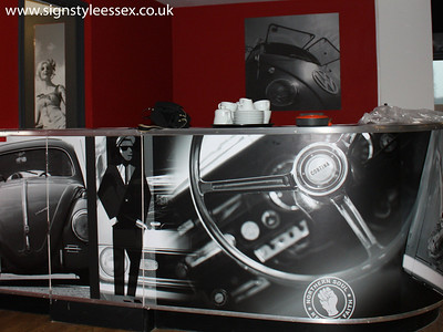 Printed Bar Front at the 8 Ball Diner,  (Superb Photo by nickgrant.co.uk)