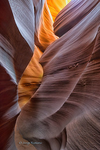 Sandstone Slot Canyon, also known as Antelope Canyon, Arizona