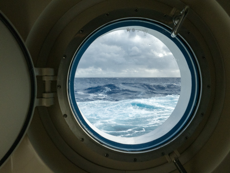 View through the stateroom's porthole - October 22, 2015