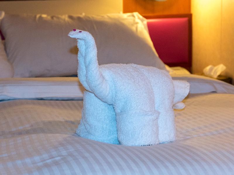 Brontosaurus towel