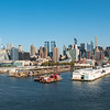 NYC docks and skyline