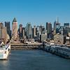 Departing NYC dock