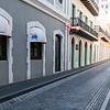 Cobblestone street in old San Juan