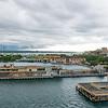Port of San Juan as the ship departs