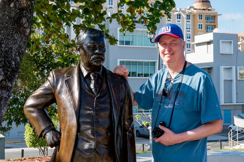 Teddy Roosevelt bronze statue