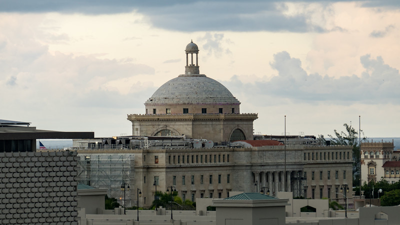 View from the back of the Puerto Rico Capitol Building