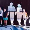 Mercedes & Joy by the memorial