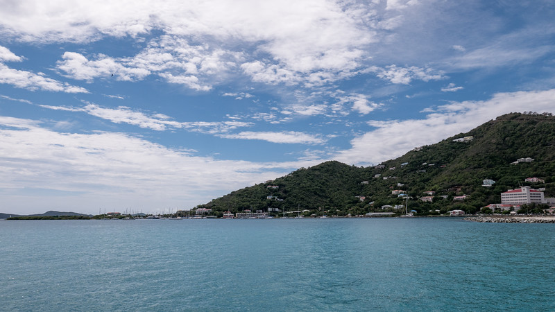 Departing Tortola harbor