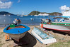 The very attractive group of islands known as Les Saintes, part of Guadaloupe. Very French and charming but too full of buzzing scooters!