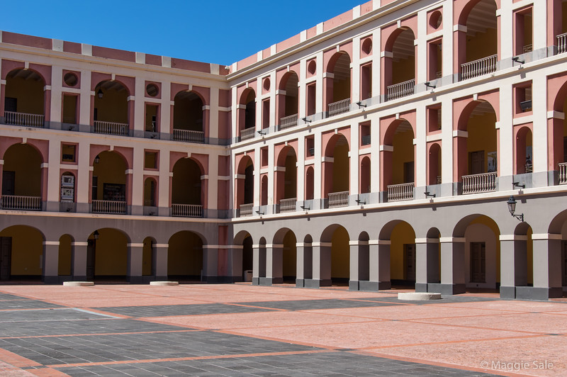 The courtyard of the Museum of the Americas.