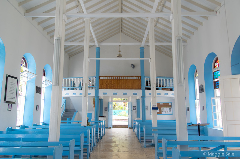 Interior of church in Bequia.