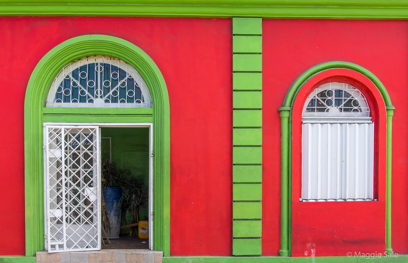 Building detail in Castries, St. Lucia