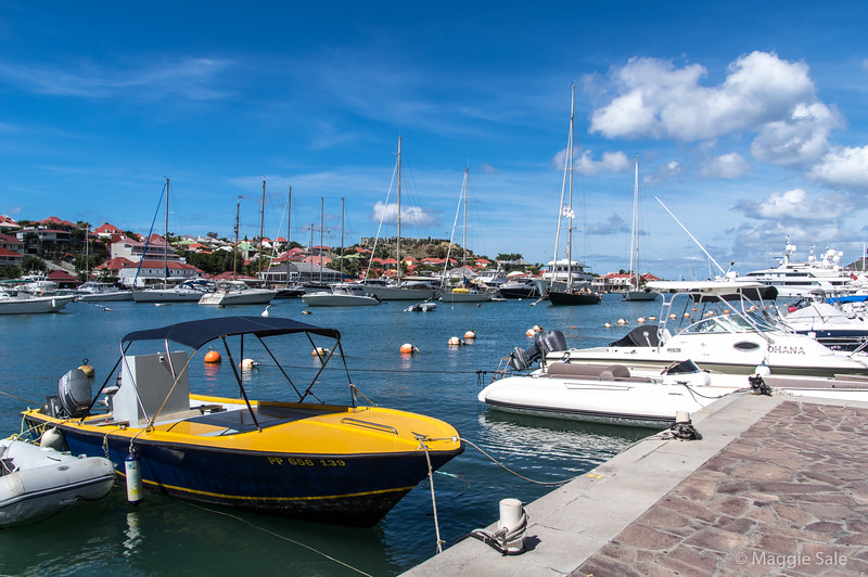 The port of Gustavia, St. Barts - a very expensive French island! Fun for a day but couldn't stay there!