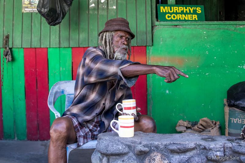 A local man in Montserrat. He's an original!