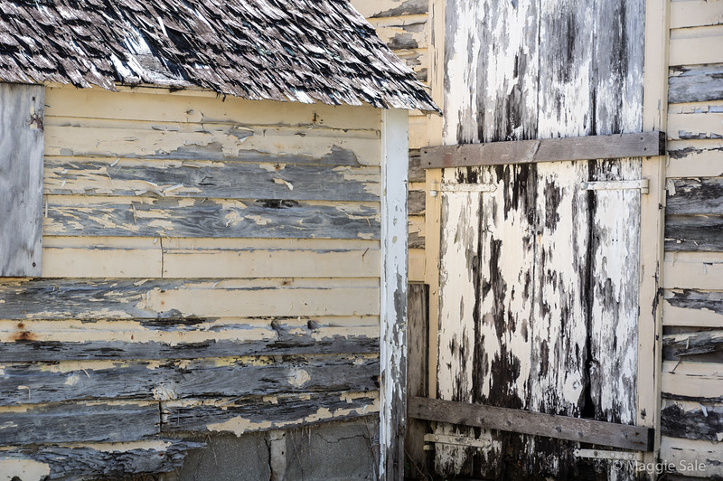Detail of old fishing shed in Gustavia. Amazing that such a prime waterfront location still has some original buildings!
