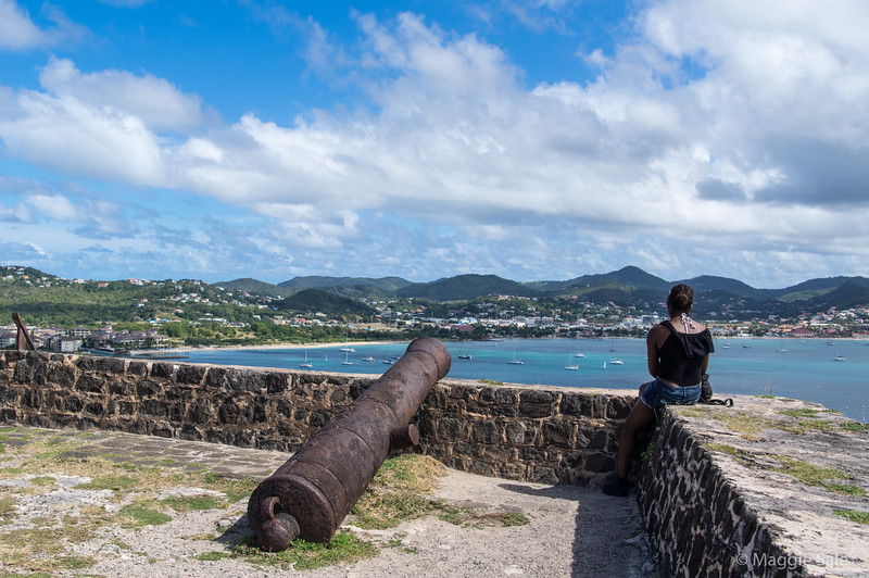 View from the fort on Pigeon Island, St. Lucia.