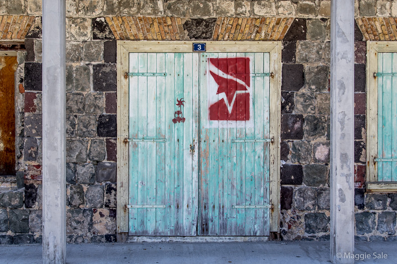 Another portside old building in Gustavia. The use of local stone probably necessary to survive hurricanes in the early days.