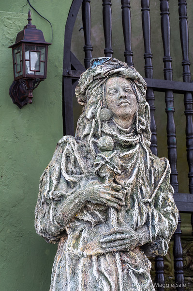 """Sculpture outside our hotel in old San Juan - The Gallery Inn. The owner is an American artist and this is one of her sculptures. The hotel was full of her art work and an eclectic mix of other objects d'art! Julian has a gallery on his website of this hotel: <a href=""""https://juliansalephotography.smugmug.com/Web-Albums/Gallery-Inn-San-Juan/"""">https://juliansalephotography.smugmug.com/Web-Albums/Gallery-Inn-San-Juan/</a>"""