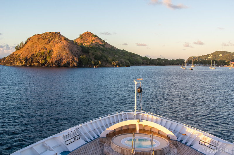 Our ship at Pigeon Island, St. Lucia