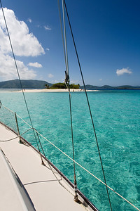 Sailing to Sandy Spit, British Virgin Islands