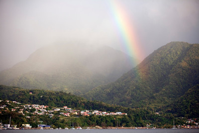 Rainbow over Roseau, Dominica, West Indies