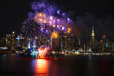 Lunar New Year Fireworks - Manhattan Skyline
