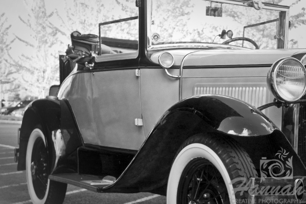 Vintage Car Side Shot in Black and White   © Copyright Hannah Pastrana Prieto