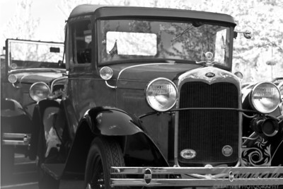 Ford Vintage Car Front Shot in Black and White   © Copyright Hannah Pastrana Prieto