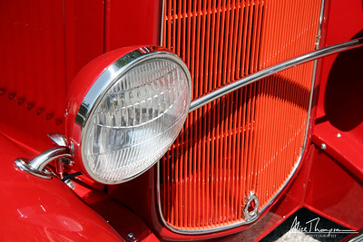 Red Grille and Headlight - Beatersville Car & Truck Show