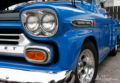 Blue Chevrolet Apache