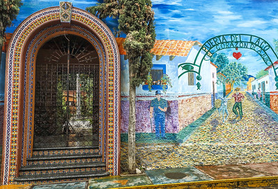 Door with Mural