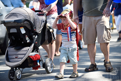 Ironman  Children of all ages march in Castine's children's custume parade which included many superheroes.  Photo by Franklin Brown