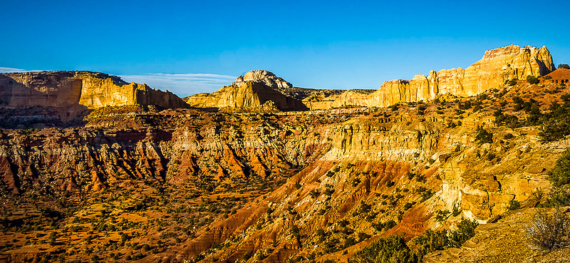 For years the San Rafael Swell has been considered one of the undiscovered natural wonders of the American West. Managed by the Bureau of Land Management; the Swell offers visitors many of the same sights that can be seen in several of Utah's national parks but allows these visitors to enjoy these sights in leisurely solitude. The San Rafael Swell also provides sights that cannot be found anywhere else; such as Goblin Valley and the San Rafael Reef. Hiking possibilities here range from easy to strenuous technical canyoneering.