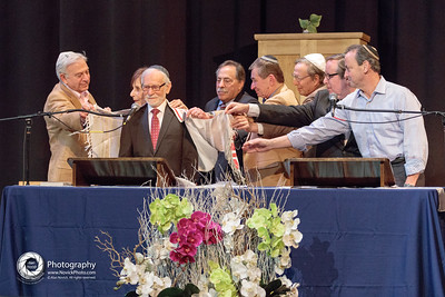 TBS past presidents celebrate Rabbi Rifat Sonsino's 50th Year in the Rabbinate