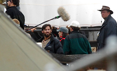 "EXCLUSIVE PHOTOS - BOWEN, AUSTRALIA 24 JUN 2007 - Hugh Jackman during filming of ""Australia"", the Baz Luhrmann movie currently in production in Bowen, QLD - PHOTO: CAMERON LAIRD (PH 0418 238811)"