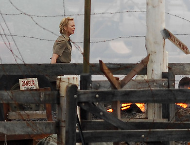 "EXCLUSIVE PHOTOS - BOWEN, AUSTRALIA 24 JUN 2007 - Nicole Kidman during a scene where both her and Hugh Jackman's character are in despair over the possible death of Nullah, Brandon Walters' character.  Filming of ""Australia"", the Baz Luhrmann movie currently in production in Bowen, QLD - PHOTO: CAMERON LAIRD (PH 0418 238811)"