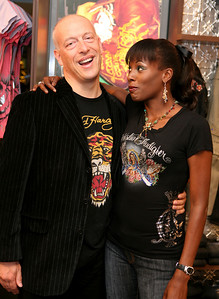 12 Dec 2007 Surfers Paradise, Qld, Australia - Max Markson and Deni Hines at the opening of an Ed Hardy store on the Gold Coast - PHOTO: CAMERON LAIRD (Ph: 0418 238811)