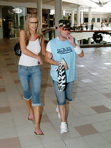 """GOLD COAST, AUSTRALIA - Brian Harvey and girlfriend Emma B out shopping after Brian's departure from """"I'm A Celebrity, Get Me Out Of Here"""" - PHOTO: CAMERON LAIRD (Ph +61 418238811)"""