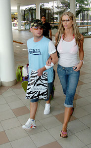 "GOLD COAST, AUSTRALIA - Brian Harvey and girlfriend Emma B out shopping after Brian's departure from ""I'm A Celebrity, Get Me Out Of Here"" - PHOTO: CAMERON LAIRD (Ph +61 418238811)"