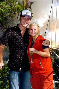 "GOLD COAST, AUSTRALIA / 10-FEB-2004 Kerry McFadden, winner of ""I'm a Celebrity, Get me out of Here"" with husband Bryan (Bryan McFadden, Westlife) PHOTO: CAMERON LAIRD (Ph: +61 (0)418238811)"